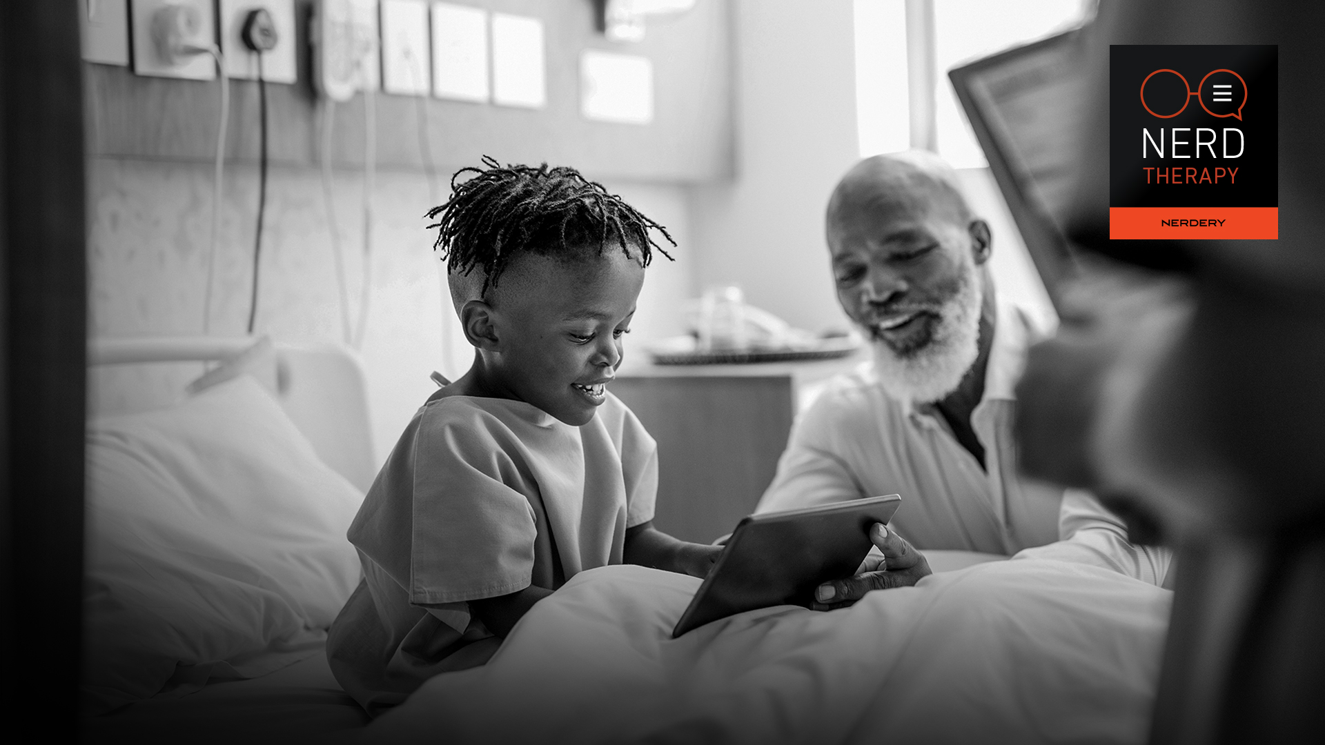 child and grandfather using virtual healthcare options