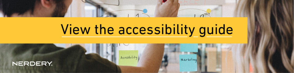 View Accessibility Guide Link